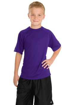 Sport-Tek Youth Dry Zone Raglan T-Shirt Y473 Purple
