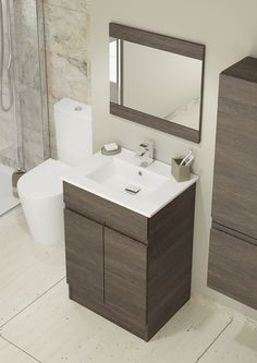 Subtlety is key with Rise modular bathroom units. The grand basin perfectly complements the spacious unit and the handleless design creates a chic and modern look. Create stylish storage in your bathroom with our range of Rise units. Home Jobs, Small Bathroom, Bathroom Ideas, Bathroom Furniture, Furniture Making, Space Saving, Basin, Storage Spaces, Home Furnishings