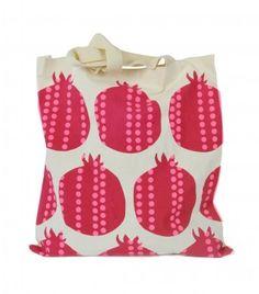 Pomegranate Tote @DuraEsclapezsl @Amber Costley Waddell #pomegranate #granadas #alborada #tucán --> www.duraesclapezsl.com