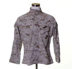 AMERICAN APPAREL MARINES BEST Desert Marpat Camouflage Heavy TWILL Shirt Med