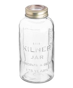 Kilner Anniversary Glass Screw Top Preserve Jar with Airtight Rubber Seal, Litre Canning Food Preservation, Preserving Food, Kilner Jars, Mason Jars, Bottles And Jars, Glass Bottles, Vacuum Seal Jars, 6th Anniversary, Jar Storage