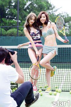 BESTie U-Ji, Dal Shabet Ga Eun, Fiestar Jei, Nine Muses Euaerin and Rainbow Woo Ri - @Star1 Magazine August Issue '14
