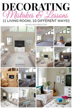Decorating Mistakes and Learning Lessons: 1 Living Room, 10 different ways (with never before seen photos!) livelovediy.com