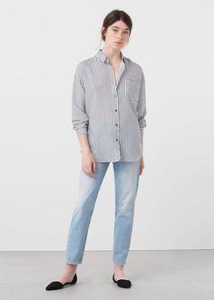 Printed cotton shirt | MANGO