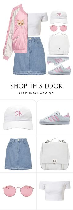 """2 Cool 4 School"" by brigi-bodoki ❤ liked on Polyvore featuring adidas Originals, Topshop, Proenza Schouler and Maison Margiela"