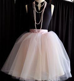 Blush pink tulle skirt for women. Pink Tulle Skirt, Tulle Tutu, Tulle Skirts, Tutu Party, Party Skirt, Ballet Inspired Fashion, Ballet Fashion, Fashion Line, Woman Fashion