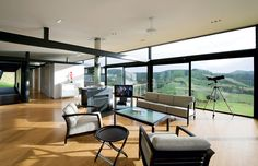This house in New Zealand has been furnished mainly with the STUA collection.