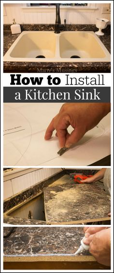 Detailed tutorial from Marty's Musings on how to install a kitchen sink, complete with step by step photos and instructions from a DIY homeowner and blogger. #ad