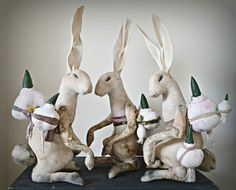 Easter Hares By Mister Finch