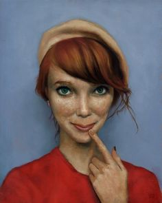 Great Oil Paintings by Esao Andrews: looks like Pippi Longstockings all grown up!