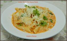 Indian Style Pink Sauce Pasta#Improv - Sneha's Recipe Penne Pasta, Pasta Salad, Chicken Tomato Stew, Pink Sauce Pasta, Cooking Challenge, Roasted Cherry Tomatoes, Mediterranean Chicken, How To Dry Oregano, Indian Style