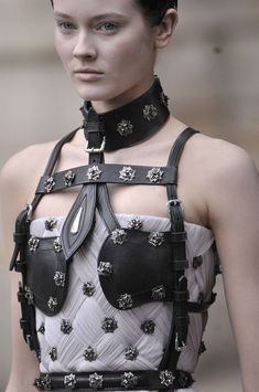 A is for Alexander McQueen by Sarah Burton: Paris Fall 2011 - details.