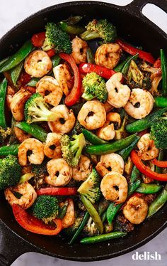 Quick And Easy Healthy Stir Fry Recipes.Dinner Ideas: Quick And Easy Sesame Chicken Stir Fry Recipe. Garlic Ginger Pork Stir Fry The Chunky Chef. Stir Fried Asian Greens Bok Choy Pak Choy And Chinese . Fried Shrimp Recipes, Shrimp Dishes, Fish Recipes, Seafood Recipes, Asian Recipes, Meals With Shrimp, Salmon Recipes, Recipies, Stir Fry Recipes