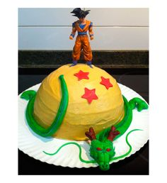 Easter cake (chocolate covered & fondant dragon ball decoration)