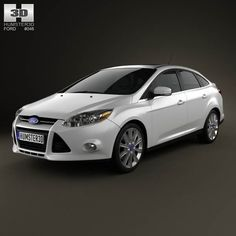 Ford Focus Sedan Titanium 2012 3d model from humster3d.com. Price: $75
