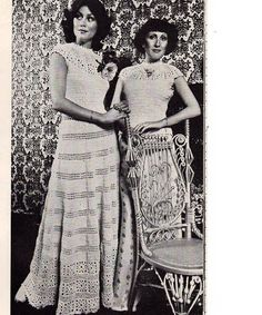Vintage Crochet Ladies Dress or Blouse Pattern.