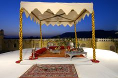 The Raj Palace in India is an enchanting former palace located within the 'Pink City' of Jaipur. http://www.slh.com/hotels/the-raj-palace-hotel/