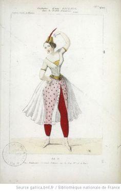 [Le diable amoureux, ballet-pantomime de Mazilier, Benoist, Reber et Saint-Georges : costume d'une esclave] Éditeur : Martinet (Paris) Date d'édition : 1840 Sujet : Costume de danse