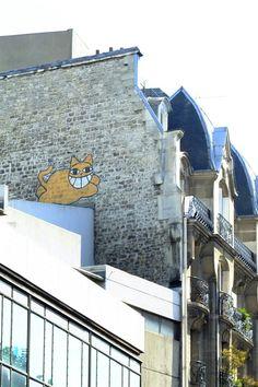 Paris 4 - rue beaubourg - street art - street art - monsieur chat