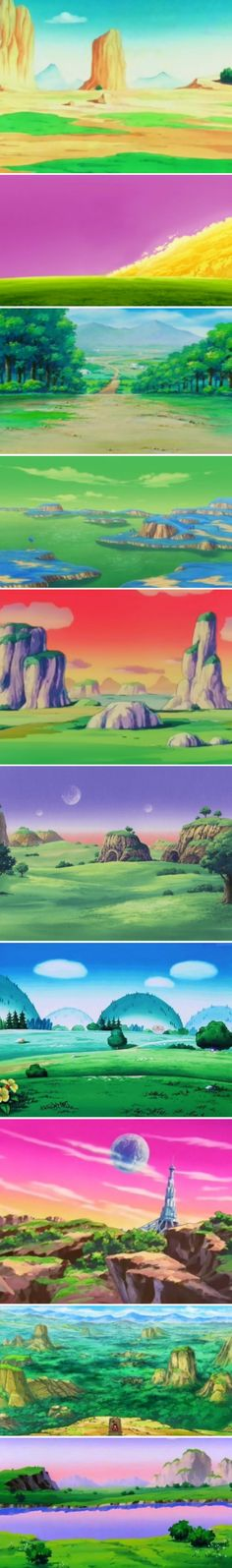 All Dragon ball s environment