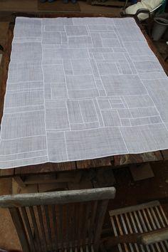 tablecloth. Patchwork. Korean traditional Fabric art and décor Jogakbo in Seoul, Korea