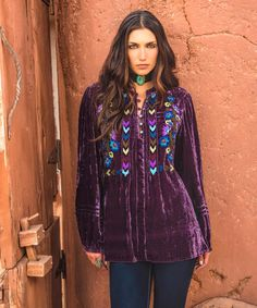 Spirit Wind Velvet Top -by Double D Ranch