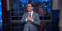 Stephen Colbert gleefully responds to President Trump calling him a 'no-talent guy'
