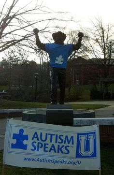 Let's hear it for Autism Speaks U and all of the other colleges and universities going blue!