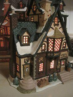 Hey, a vacancy at Ebenezer's Apartment Building!  Lemax Christmas Village