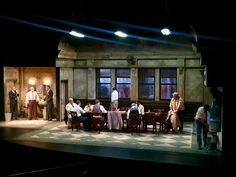 12 ANGRY MEN presented by The Laguna Playhouse, Laguna Beach, CA. Scenic Design by Stephen Gifford.