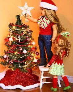 christmas for dolls doll foodag - Christmas Decorations For American Girl Dolls
