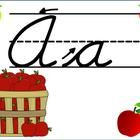 These posters will be a great addition to your apple theme classroom! Students will easily see how to write each letter of the alphabet in cursive ...