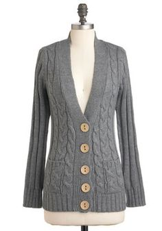 Your Fireside of the Story Cardigan in Charcoal, #ModCloth
