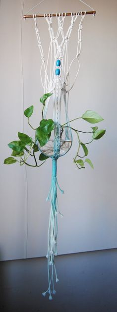 Macrame Plant Hanger by SlowDownProductions on Etsy, $45.00