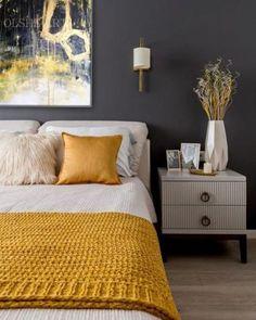 Rustic Bedroom Design, Home Decor Bedroom, Decor Interior Design, Room Design Bedroom, Furniture Design, Mustard Bedroom, Contemporary Home Decor, Luxury Homes Interior, Bedroom Colors