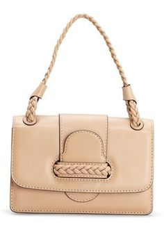 Valentino Braided Small Flap Leather Shoulder Bag