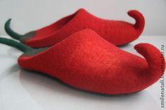 """Обувь ручной работы. Ярмарка Мастеров - ручная работа Тапочки-шлепки """"Моя перчинка"""". Handmade."""