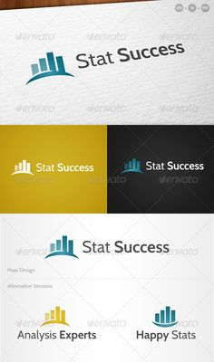 Stat Success' Analysis - Logo Design Template Vector #logotype Download it here: http://graphicriver.net/item/stat-success-analysis-logo/706761?s_rank=971?ref=nexion