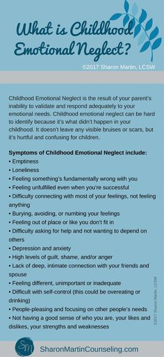 What is Childhood Emotional Neglect? - Sharon Martin, LCSW Counseling San Jose and Campbell, CA Mental And Emotional Health, Mental Health Awareness, Emotional Abuse Quotes, Emotional Abandonment, Ptsd Awareness, Emotional Awareness, Emotional Healing, What Is Childhood, Childhood Quotes