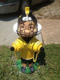 "Route 66 Sullivan, Missouri Fire Hydrant ""SHS Football Player"""