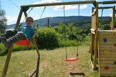 The original Jungle Gym wooden playground equipment.