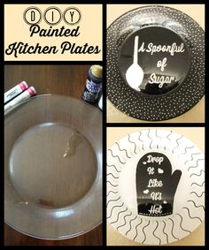 MyPinterventures.com: DIY Painted Kitchen Plates - Add whimsy to your kitchen!