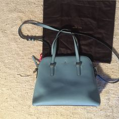 """Kate spade cedar street blue l bag 9""""h x 11w Good condition  perfect shape and size for a bag, kate spade Bags Hobos"""