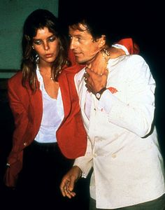 Caroline & her 1st husband, Philippe Junot. Looks like a rough night.