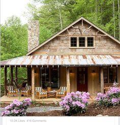 wrap around porch. extends utility. balances roof line.