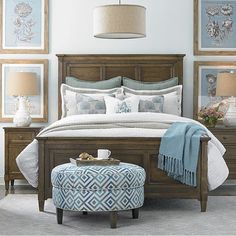 2464K159 in by Bassett Furniture in Bowling Green, KY - Queen/Peppermill Commonwealth Panel Bed