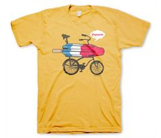 Items similar to Popcycle Men's Funny Bicycle Yellow T-shirt in S, M, L, XL on Etsy Yellow T Shirt, Retro Humor, Retro Funny, Direct To Garment Printer, Shirt Shop, Vintage Men, Shirt Style, Vintage Inspired, Bicycle