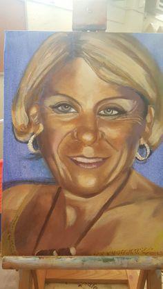 My portrait in oils