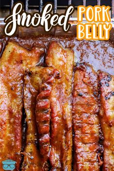 Smoked Pork Belly is a delicious cut of meat that has amazing flavor and requires just a few ingredients to taste amazing! The perfect recipe to throw on the smoker for guests! Smoked Pork Belly Recipe, Pork Belly Recipes, Barbecue Recipes, Smoker Recipes, Traeger Recipes, Bbq, Pork Belly Strips, Pork Seasoning, Cooking Recipes