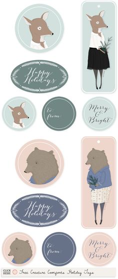 Free Holiday Printables Roundup for 2012 - Home - Creature Comforts - daily inspiration, style, diy projects + freebies